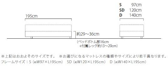 Zero-G Curve ゼロジー カーヴ ベッドフレーム