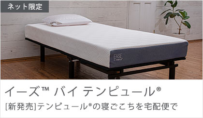 イーズ 新発売 ネット限定 テンピュールの寝ごこちを宅配便で