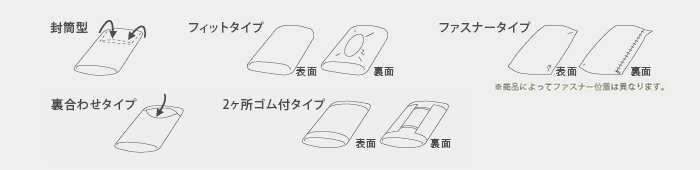 ピローケースの形状