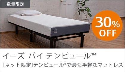 イーズ ネット限定 テンピュールの寝ごこちを宅配便で